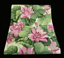 45037-20-) 1 Rolle hochwertige, dicke Vinyl Tapete Lotusblüte waschbeständig