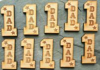 10 x father dad father's Day star Tag token laser engraved pocket isolation hug
