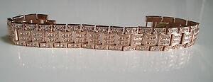 Men's Bling Rose Gold Finish Fashion Dressy Removable Link  bracelet