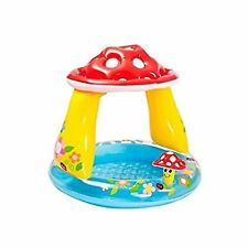 "Intex 40"" Inflatable Mushroom Baby Paddling Pool Canopy Toddler Summer Garden"