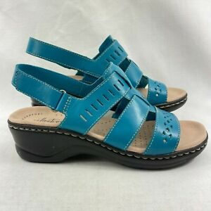 Clarks Collection Women's Lexi Qwin Sandals Turquoise US 8.5W