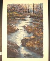 "Original Serigraph by Michael Schofield ""Burke's Creek"""