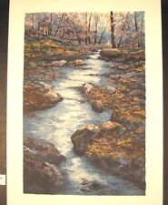 "Original Serigraph by Michael Schofield ""Burke's Creek"""