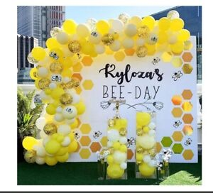 Yellow Bumblebee Balloon Arch Kit Garland Birthday Wedding Party DIY Decoration