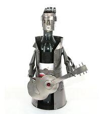Guitar Man Metal Wine Bottle Holder