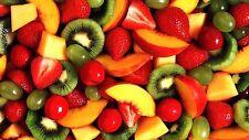 FRUTTA KIWI color pesca bacche rosse cucina effetto 3d Vista Muro Adesivo Poster Viny 375