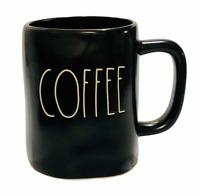 Rae Dunn Mug COFFEE Black Matte Ceramic Coffee Cup Dishwasher Safe Brand New
