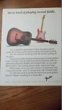 1985 AD Fender Acoustic's - Tired Of Playing 2nd Fiddle