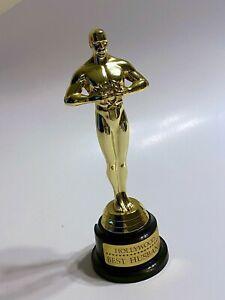 "Hollywood Oscar Award Trophy Souvenir7-Inch  - ""Best Husband"" Statue -Pre OWned"