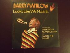 Barry Manilow.......Looks Like We Made It......45rpm....70s Pop.....