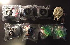 1995 Applause Chewbacca & 1996 Star Wars Trilogy Taco Bell Toys Yoda Boba Fett +