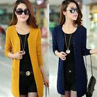 New Women Long Sleeve Knitted Outwear Jacket Coat Sweater Cardigan Loose Sweater