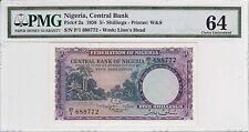 Nigeria 1958 5 Shillings P-2a PMG Choice Unc 64