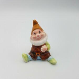 Vintage Bisque Porcelain Happy Figurine Snow White and the Seven Dwarves Disney