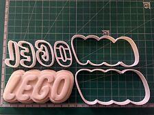 Logotipo de LEGO Bizcocho Masita Cortador Fondant Pastel Decoración Molde