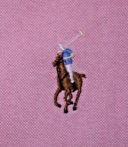 Mens EUC Pink Polo Ralph Lauren YARMOUTH Oxford Dress Shirt size 17-1/2 35