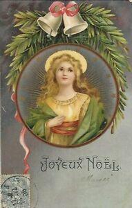 Belle CPA carte postale ancienne Joyeux  Noël sacré cloches