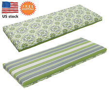 Bossima Outdoor Bench Cushions Patio Seat Pad Storage Box Green/Gray Reversible