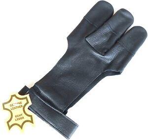 Archery gloves 3 Finger Gloves Shooting Glove/Archery Leather Black Gloves