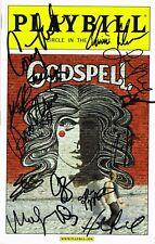 Godspell Original Broadway Revival Cast SIGNED Playbill  Hunter Lindsay COA