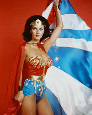 LYNDA CARTER WONDER WOMAN 8X10 COLOR PHOTO CAPE OPEN
