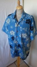 1940s 1950s style  Rockabilly floral  Hawaiian shirt size M chest 44 by trespass