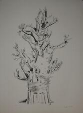 Micheline MEVEL ROUSSEL- Lithographie originale signée- L'arbre