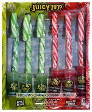 BAZOOKA 6pcs Box JUICY DROP Lick+Dip CANDY CANES+SOUR GEL Holiday NEW! Exp. 6/19