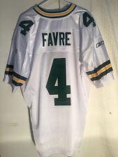 Reebok Authentic NFL Jersey Green Bay Packers Brett  Favre  White sz 52
