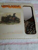 Vintage Hoyne MIRRO-SCENE by HOYNE Tigers (6) 12 x 12 Mirror Tiles Pheasan New