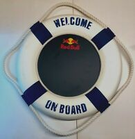 Large Red Bull Energy Drink Wall Sign Lifebuoy Man Cave Bar Pub Advertising Rare