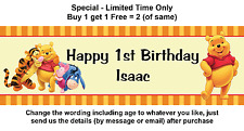 Winnie the Pooh Birthday Party Personalised Banner Hanging Sign Decoration Event