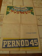 "ANCIENNE AFFICHE PUBLICITAIRE ""PASTIS  51 PERNOD 45 ""  course velo   ANNEE  57"