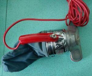 Vintage Continental Royal Handheld Vacuum Small Red Blue Chrome MCM Retro