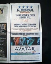Best AVATAR Science Fiction Film Movie Opening Day AD 2009 Los Angeles Newspaper