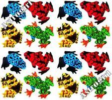 ~ Sparkle Frogs Red Blue Black Yellow Amphibian Hambly Studio Glitter Stickers ~