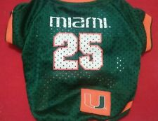 Miami Hurricanes Dog Shirt, Jersey, Licensed Product,  # 25