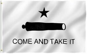 3x5 Texas Gonzales Gonzalez Come and Take It Cannon Flag 3'x5' Banner grommets
