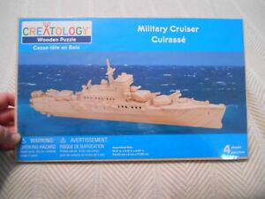 Creatology Wooden Puzzle, Military Cruiser, NEW