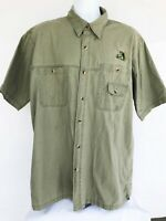 Mens X-Large Red Head Short Sleeve Casual Sport Fishing Shirt Clothes