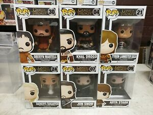 POP! Vinyl LOT #04 Khal #07 Jon #09 Ayra #21 Tyrion #24 Daenerys #30 Oberyn