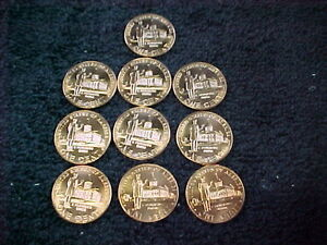 10 - 2009 P LINCOLN MEMORIAL PENNIES BU  FROM US MINT       PROFESSIONAL