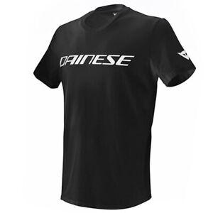 DAINESE 'DAINESE' COTTON T SHIRT 622 BLACK WHITE