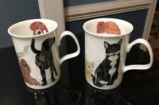 Dog & Cat Lovers Roy Kirkham Coffee Cups Mugs Fine Bone China England