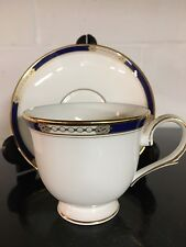 Lenox  Royal Treasure Fine Bone China Cup Saucer Set Blue USA