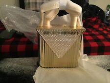 AUTHENTIC MICHAEL KORS MERCER OVERSIZED LOCK CLUTCH GOLD, SOLD OUT RETAIL $398