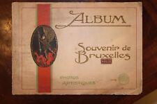23910 Album Souvenir de Bruxelles Photos Artistiques Brüssel Bilder 1920