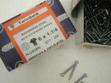 TWINQWIK Wood & Chipboard Screws 6x1 1/4 DOMED HEAD , zinc plated, BOXED  X 200