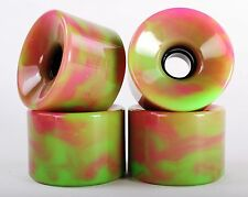 76mm 78a Longboard Wheels (Blank Blended Pink&Green)