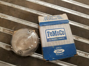 NOS 1967 1968 FORD MUSTANG PARKING LAMP LENS CLEAR OEM C7ZZ-13208-A 67 68